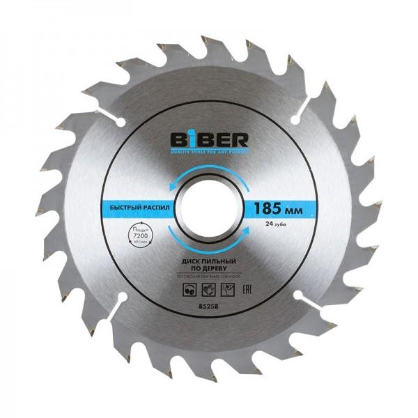 Диск пильный Biber 85258 185х30-20-16 z24, быстрый рез