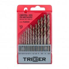Набор сверл по металлу Trigger 74342 P6M5K5 1,5-6,5 мм (набор 13 шт.)