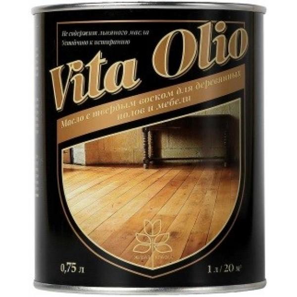 Масло с твёрдым воском для деревянных полов и мебели 0.75 л
